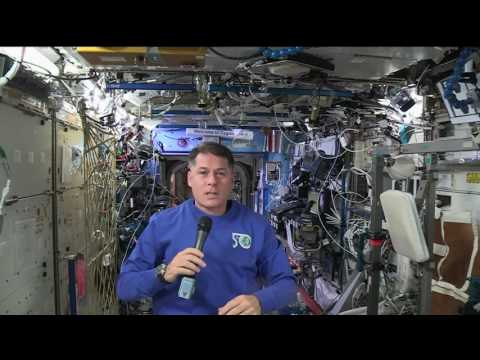 Space Station Commander Discusses Life in Space with Massachusetts Students