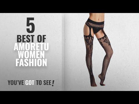 Amoretu Women Fashion [2018 Best Sellers]: Amoretu Womens Fishnet Tights Suspender Pantyhose