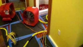 How To Dry Wet Walls, Hardwood Floor Drying, Water damage Acton Concord Sudbury Harvard MA