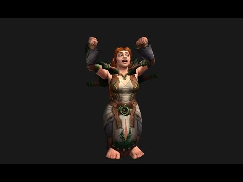 Warlords Of Draenor Female Dwarf Animations Youtube