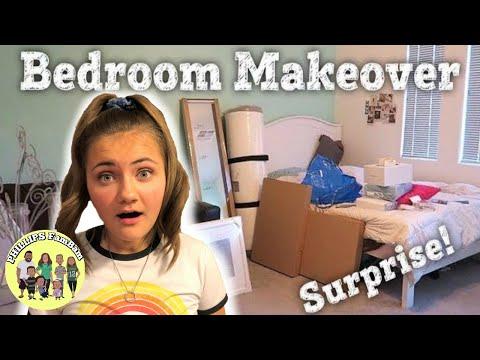COMPLETE BEDROOM MAKEOVER   We completely transformed her Entire Bedroom   Full Room Makeover