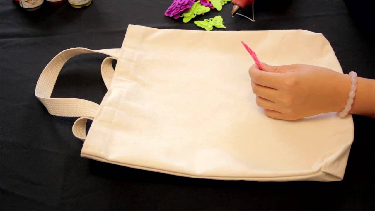 How To Decorate Eco Grocery Bags With Fabric Decorative