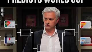 Jose Mourinho predicts who will be in the semi finals of the 2018 FIFA World