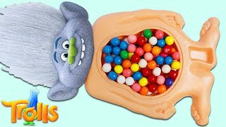 Trolls Guy Diamond Gets Gumball Belly Full of Surprise Toys!