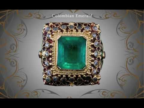 Colombian Emerald 5.70 ct Diamond Ruby Antique Ring