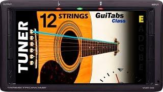Standard Acoustic 12 Strings Guitar Tuner 📟 / GuiTabs Tuners 🎸
