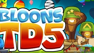 Bloons Tower Defense 5: Odyssey Mode on Easy