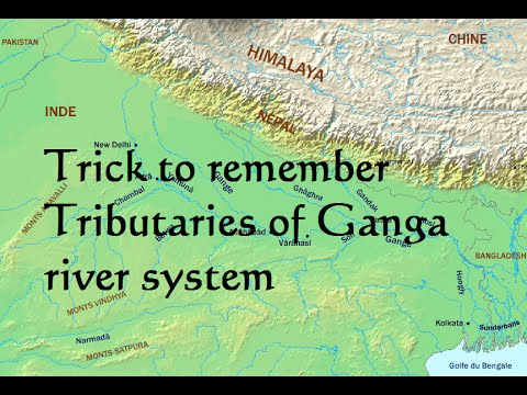 Trick to remember Tributaries of Ganga River