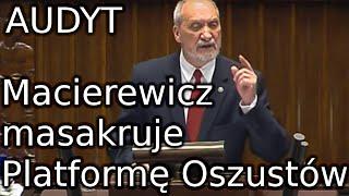 Antoni Macierewicz AUDYT rządów PO-PSL 11.05.2016 MON Ministerstwo Obrony Narodowej Macierewicz