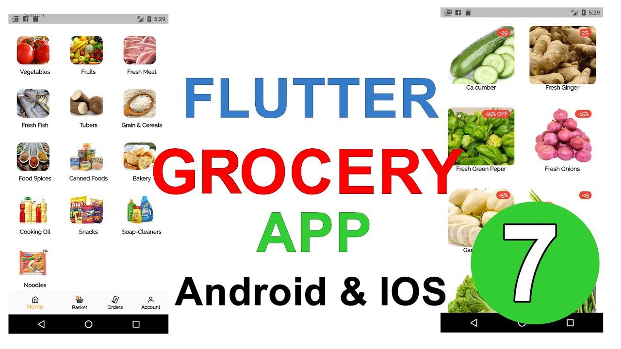 Flutter Grocery App - Display Products From Firebase RealTime DataBase
