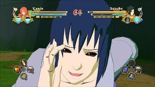 Naruto Ultimate Ninja Storm 3 Full Burst EMS Sasuke Karin Character Swap Gameplay (PC)