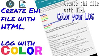 Created Ehi file with HTML, COLOR your Log, 2018 Mp3