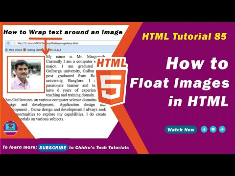 HTML Video Tutorial - 85 - Html Css Floating Images