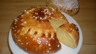 BRIOCHE ALGERIENNE  ou  la mouna ( mona ) Oranaise
