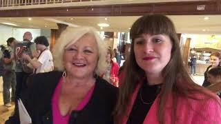 Bev Lyons with Karen Koren and daughter Katy at Gilded Balloon 2019 Edinburgh Festival