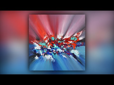 Abstract Painting Techniques / Acrylics / Palette Knife / Dynamic / Demo #011