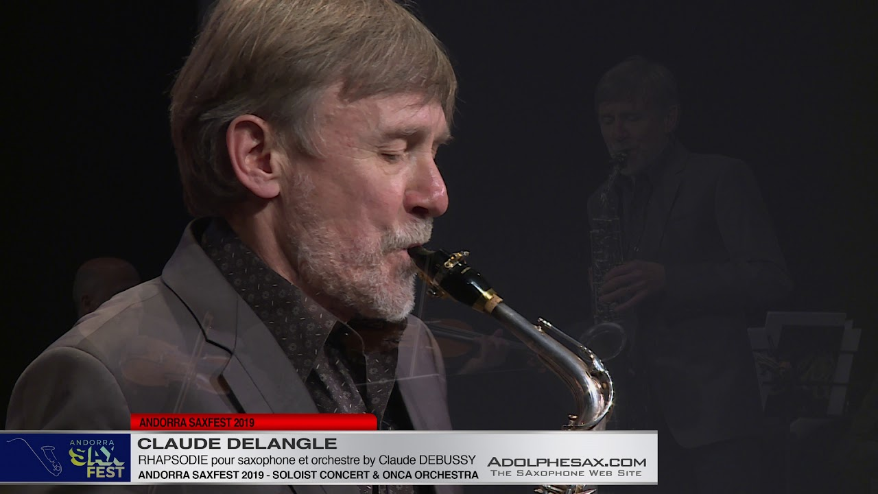 Andorra Saxfest 2019 - Claude Delangle - Rhapsodie with orchestra by C  .Debussy (Arr V.David)