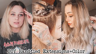 I did my own handtied extensions & color transformation at home !