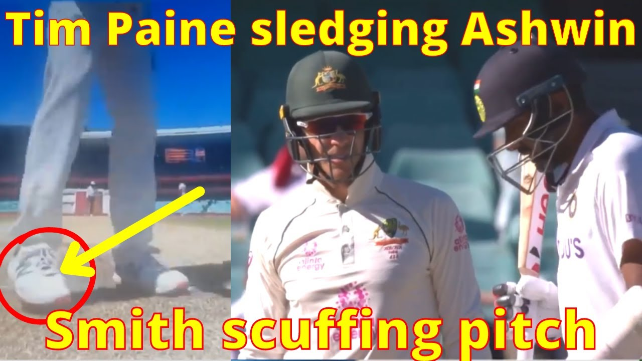 Download Tim Paine sledging Ashwin   Smith scuffing pitch   India vs Australia 4th Test [ Hindi ]