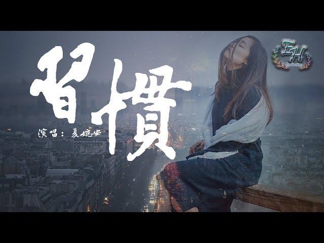 夏婉安 - 習慣『最怕沒有結果的拉扯....』【動態歌詞Lyrics】