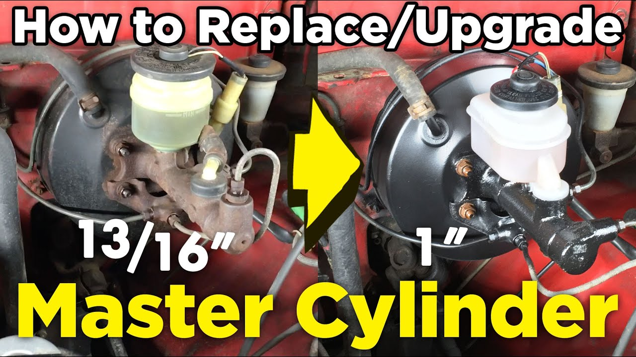 how to install upgrade v6 1 master cylinder on 4 cyl toyota pickup [ 1280 x 720 Pixel ]