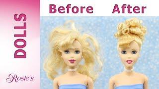 Disney Cinderella Mullti Doll Makeover Part 1 - Curly Bun