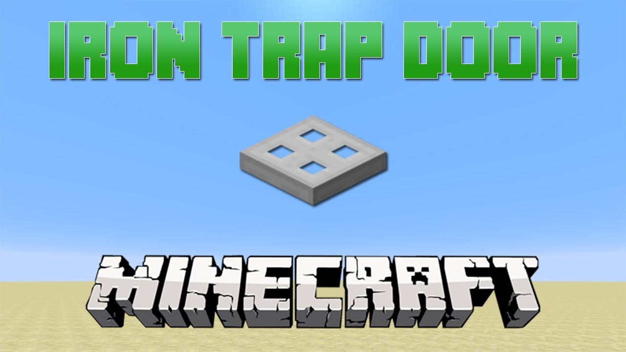 How To Make A Iron Trap Door In Minecraft  228.28 Tutorial