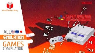 All SNES/Super Nintendo Simulation Games Compilation - Every Game (US/EU/JP)