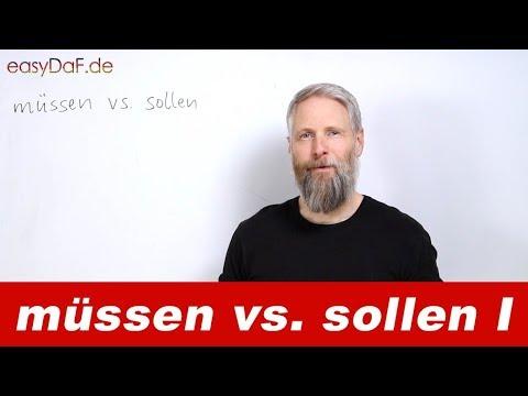 Modalverben: müssen vs. sollen - objektiver Gebrauch