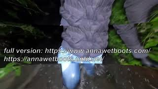 WetLook 206 Girl in Wet Jeans and Rubber Boots in a Swamp
