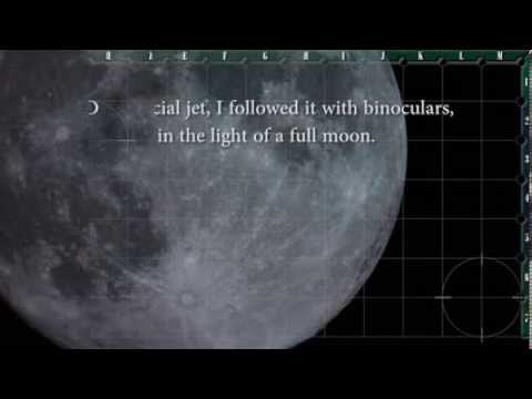 Invisible Plane Skims The Moon