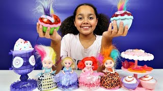 Princess Cupcake Surprise Dolls - Puppy Pets  Party Cake & Ice Cream Set | Kids Toys Review