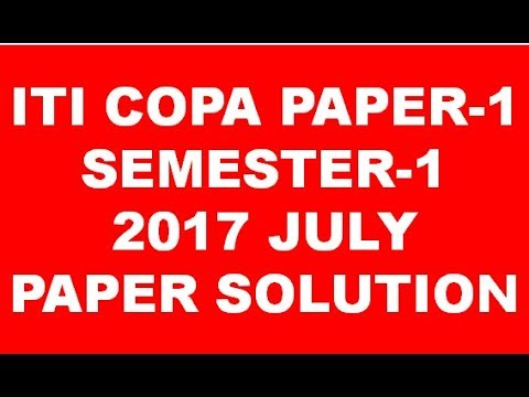 iti computer operator and programming assistant semester 1 2017 july