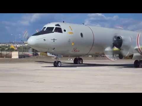 German Navy P3C Orion LOW PASS - Malta Airshow 2014 *HD