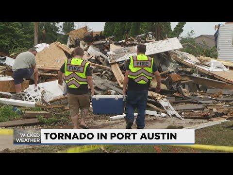 Multiple Port Austin homes destroyed in tornado damage