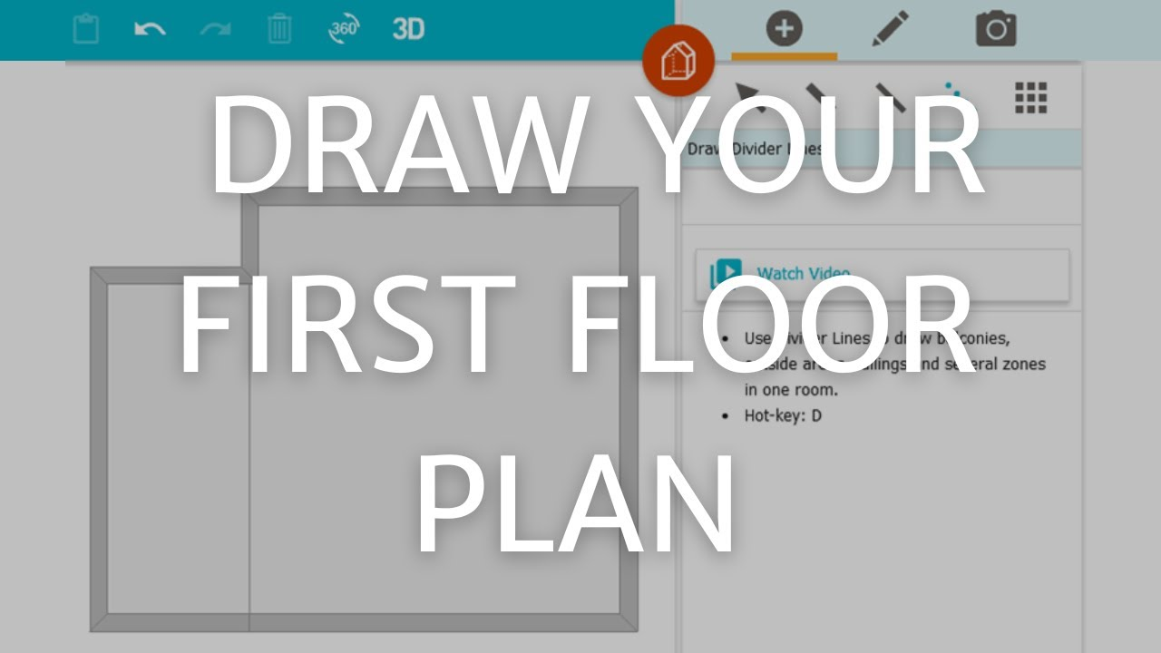 draw your first floor plan pc u0026 mac youtube