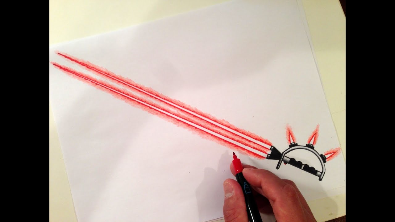 How To Draw The Ultimate Lightsaber Youtube