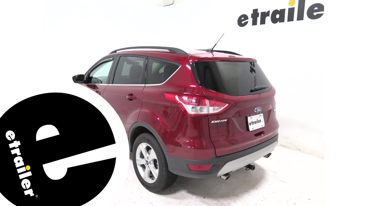 Weathertech Front Side Window Air Deflectors Installation 2016 Ford Escape Etrailer