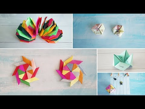 5 Smart Origami Paper Games | Best DIY Video | 1 Minute Crafts