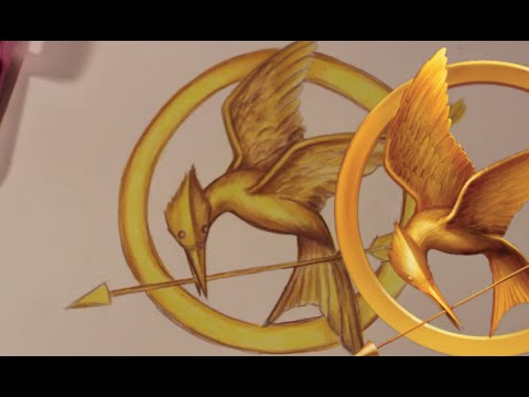 How To Draw The Mockingjay Symbol From The Hunger Games