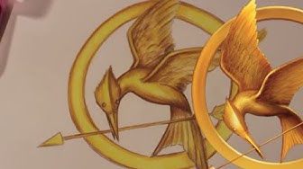 How to Draw the MOCKINGJAY Symbol from The Hunger Games - @DramaticParrot