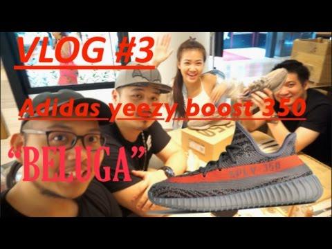"""VLOG #3 : YEEZY 350 V2 """"BELUGA"""" RAFFLE!!!"""
