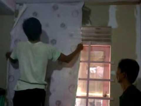 Cara memasang wallpaper untuk kamar azmi youtube - Cara pasang wallpaper ...