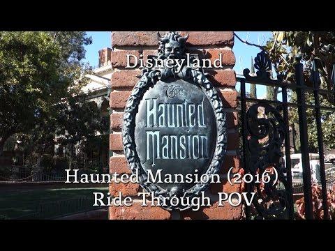 Disneyland - Haunted Mansion Ride Through POV (2016)
