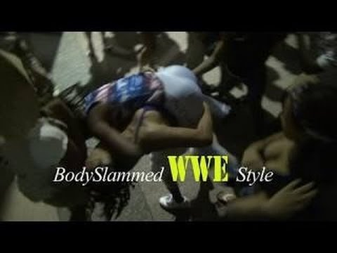 Best Girl Fight Ever - Girl gets BodySlammed hard WWE Style july 4th in Pittsburgh pa