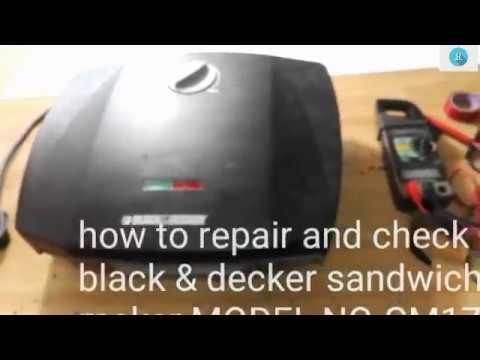 How To Repair Sandwich Maker Black Decker Gm1750d