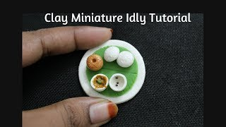 Miniature Clay Idly & Vadai   miniature fridge magnet  south indian foods in air dry clay
