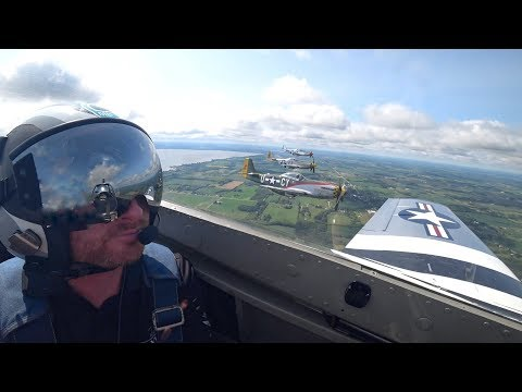 THE ULTIMATE P51 MUSTANG FLIGHT with ATC Audio!