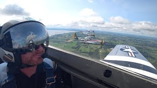 P51 MUSTANG 4 SHIP FORMATION FLIGHT!