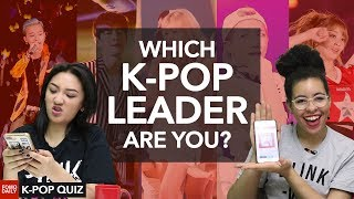 Which K-POP group leader are you? • Fomo Daily's K-Pop Quiz